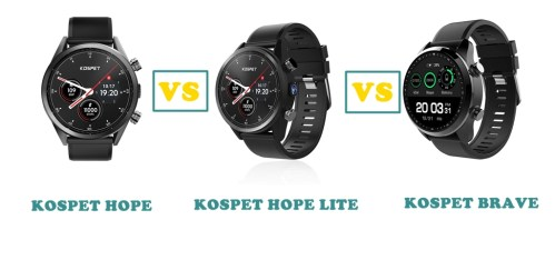 Kospet Hope vs Hope Lite vs Brave Compared | SMARTWATCH SERIES