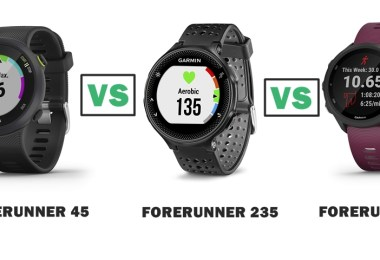 garmin forerunner 45 vs 235 vs 245 compared