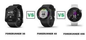 garmin forerunner 35 vs 45 vs 45S compared