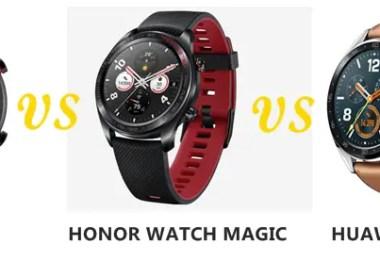 amazfit gtr vs honor watch magic vs huawei watch gt