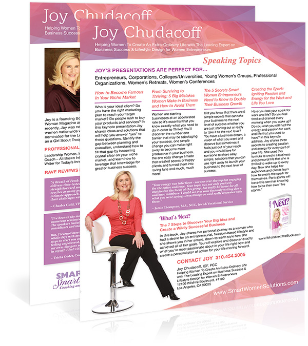 Joy Chudacoff Speaker Sheet