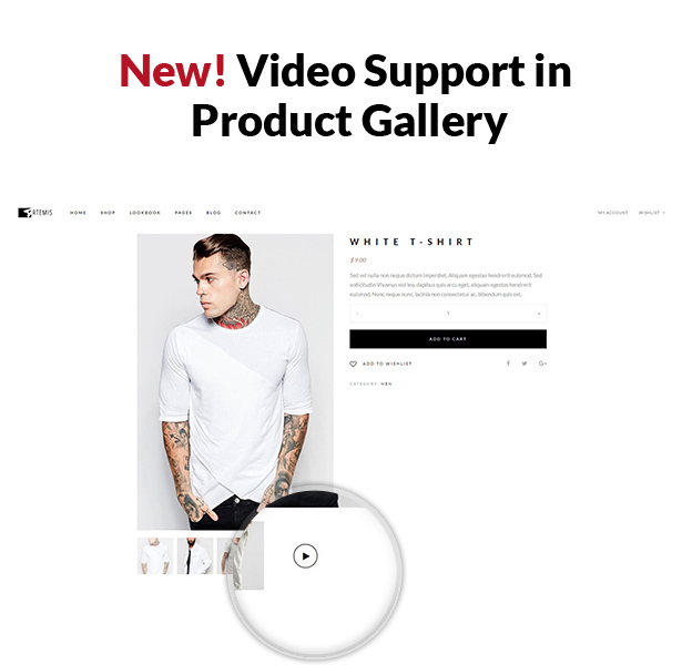 Artemis WooCommerce WordPress Theme Video Support