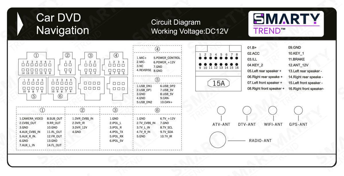 Anbotek Double Din Wiring Diagram. double din wiring