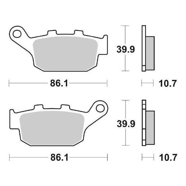 Pair of Rear Brake Pads SBS 161HF/6561610 Honda NTV REVERE