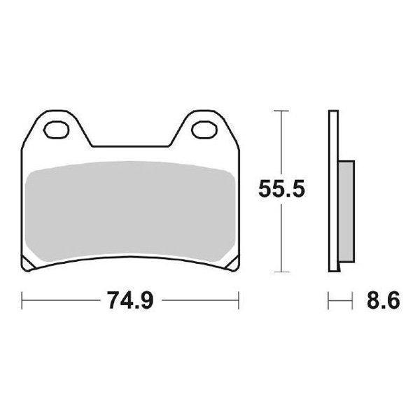Pastiglie Anteriore Ceramica SBS 706HF/6567060 MOTO GUZZI
