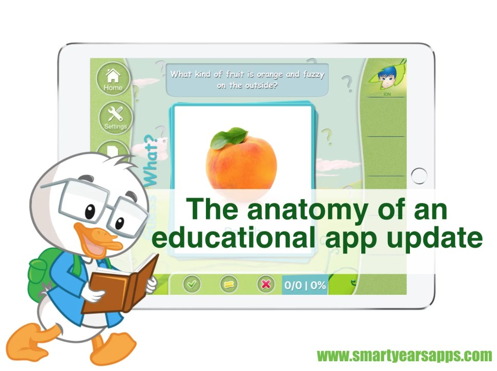 The anatomy of an educational app update
