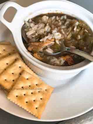 chicken stew; chicken and rice stew; soups with roux