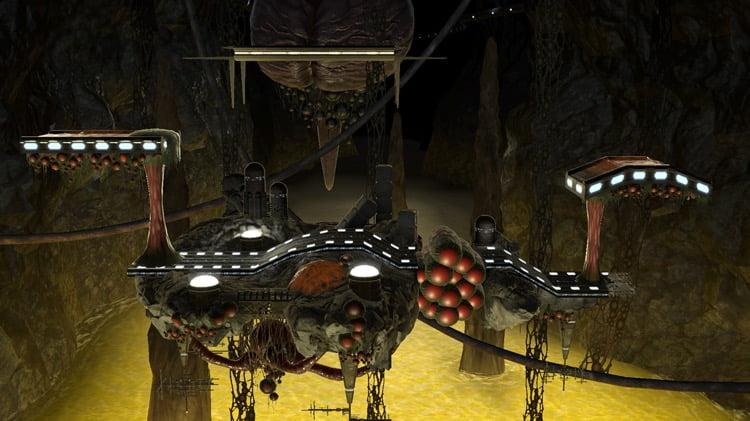 Stage Metroid Brinstar Melee Super Smash Bros Ultimate