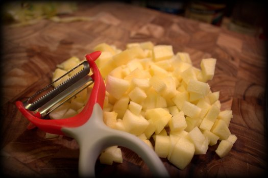 Love a Y peeler with a serated side - makes it a breeze to get the job done.