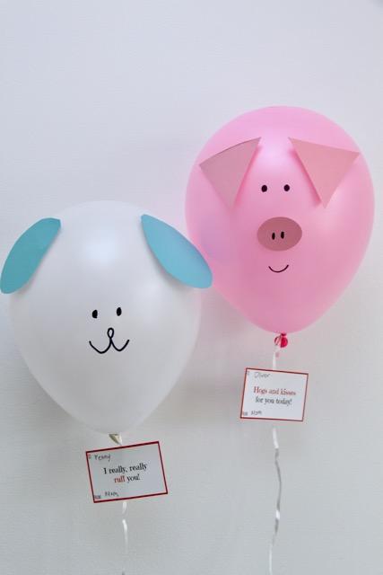 balloon animal love notes