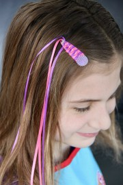 braided ribbon hair clip
