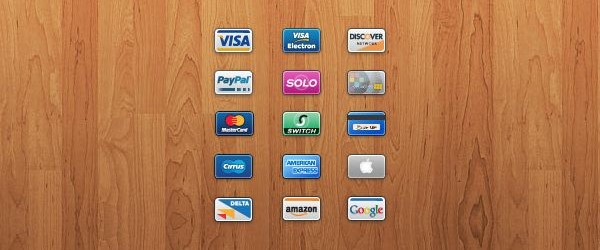 Credit and Debit Card Mini Icons 600x250 35 High Quality Free Ecommerce Icons