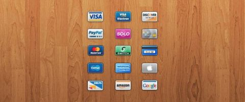 Credit and Debit Card Mini Icons