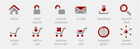 Red Vector Shopping Cart Icons 35 High Quality Free Ecommerce Icons