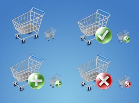 Shopping Cart Icon Set 35 High Quality Free Ecommerce Icons