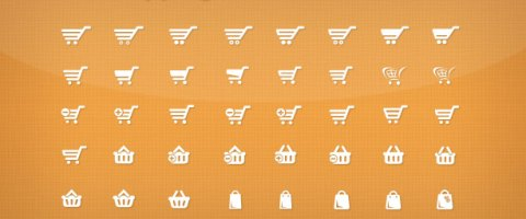 Vector Shopping Cart and Basket Icons