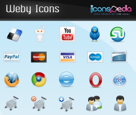 Weby Icons set 35 High Quality Free Ecommerce Icons