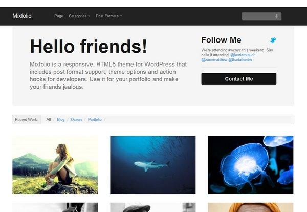 Responsive Portfolio WordPress Theme
