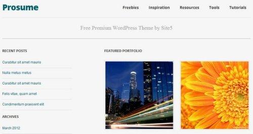 free responsive portfolio wordpress theme 14 15 Free Responsive Portfolio WordPress Theme