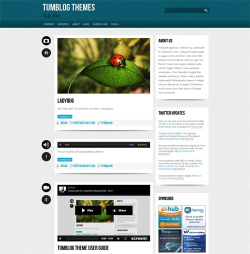 tumblr style wordpress themes 14 18 Free Awesome Tumblr Style WordPress Themes