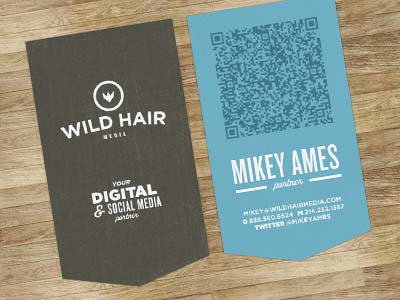 qr code business cards 04 50 Inspirational QR Code Business Cards