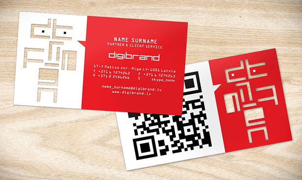 qr code business cards 17 50 Inspirational QR Code Business Cards