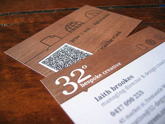 qr code business cards 19 50 Inspirational QR Code Business Cards
