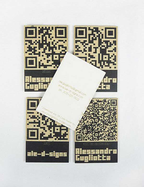 qr code business cards 27 50 Inspirational QR Code Business Cards