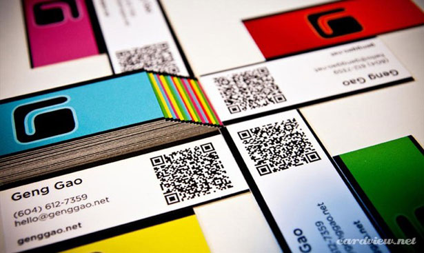 qr code business cards 36 50 Inspirational QR Code Business Cards