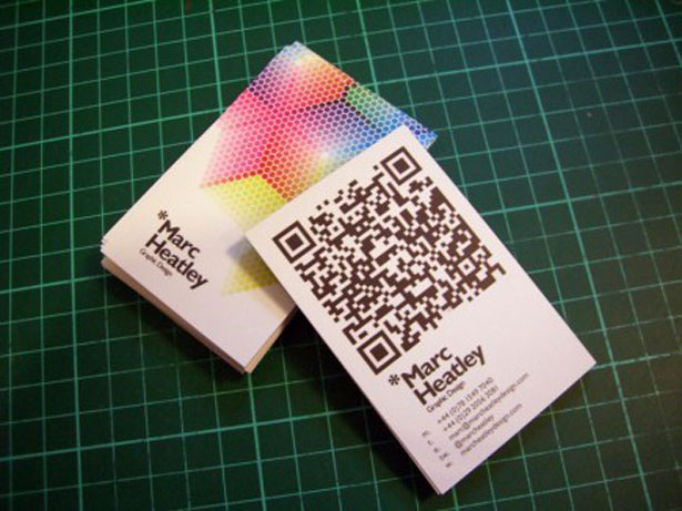 qr code business cards 38 50 Inspirational QR Code Business Cards