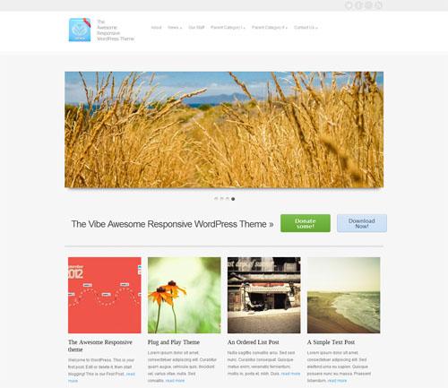 responsive wordpress themes 04 5 Free Responsive Portfolio WordPress Themes for September 2012