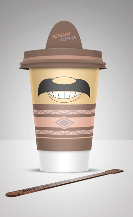 4 Coffee Cups Design Inspiration by Alex Litovka