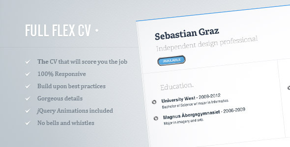 10 responsive html resume  cv templates