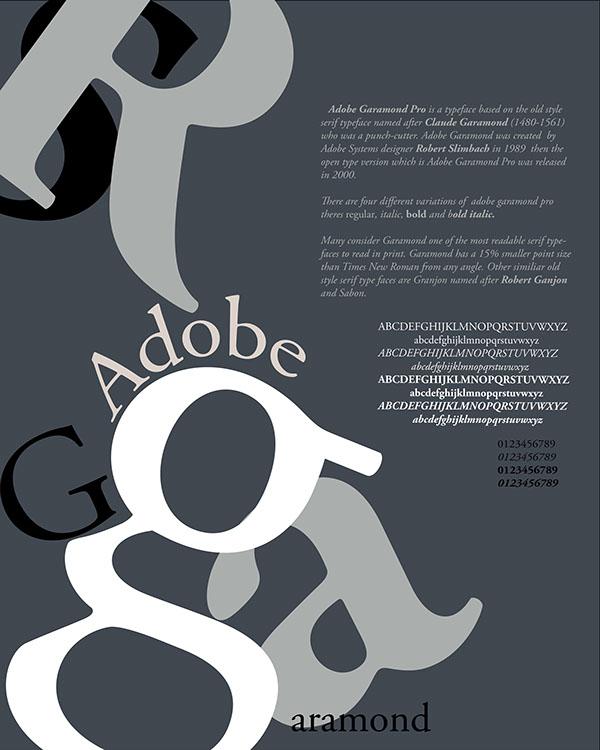 Adobe Garamond Typeface Poster Typography Inspiration #12