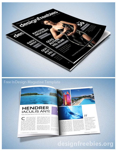 Indesign Book Cover Layouts : Free magazine indesign template for editorial project