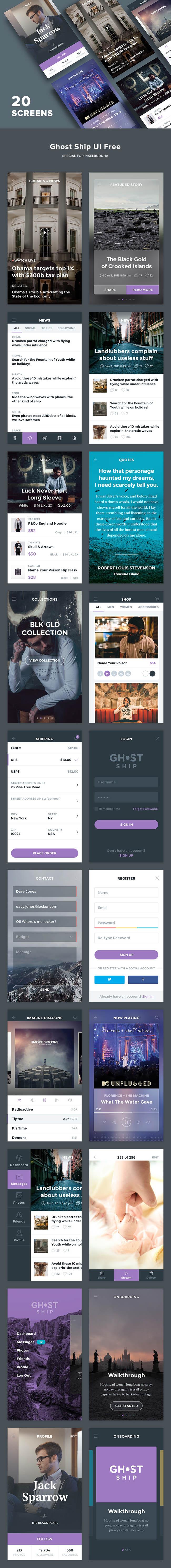 Ghost-Ship-Mobile-UI-Kit