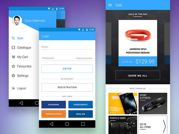 ecommerce apps ui design