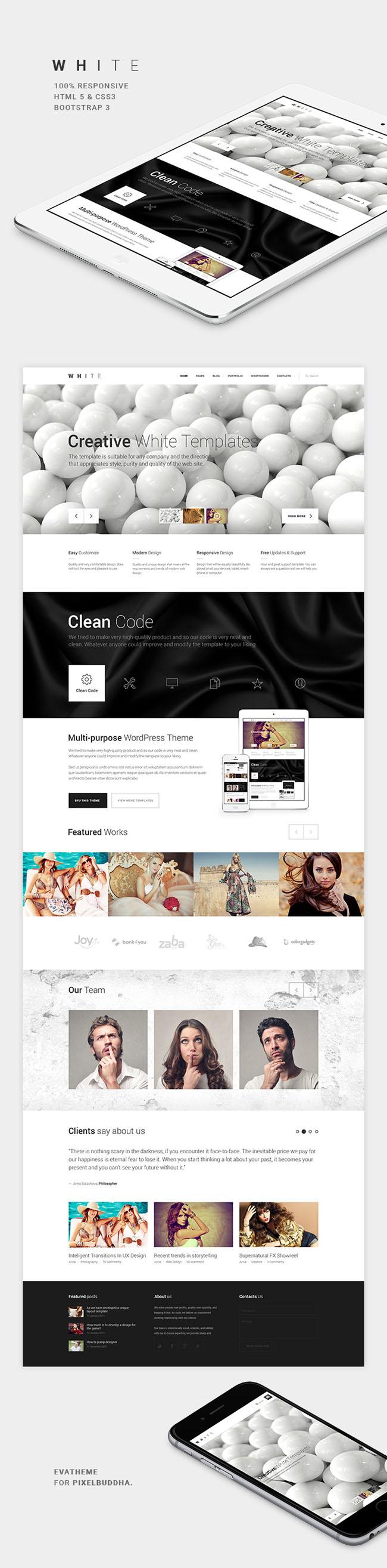 white-html-template