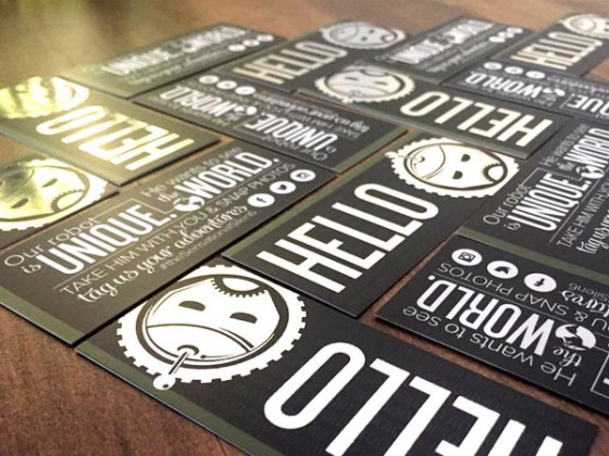 Foil Robot Cards
