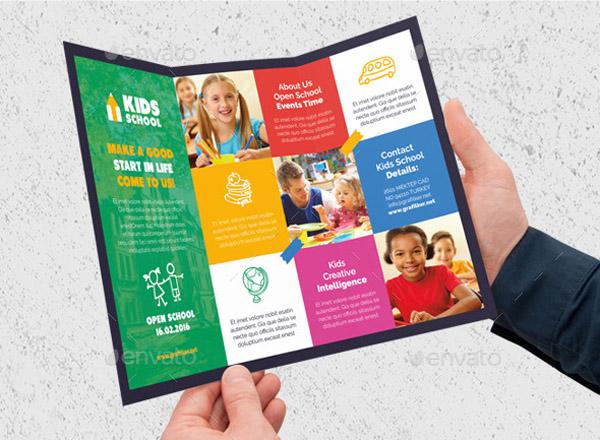 30 school brochure template for education institution. Black Bedroom Furniture Sets. Home Design Ideas