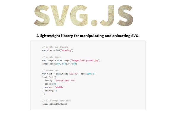 JavaScript Libraries for SVG Animation 05