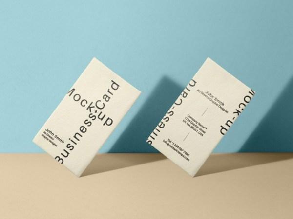 vertical business card mockup 02