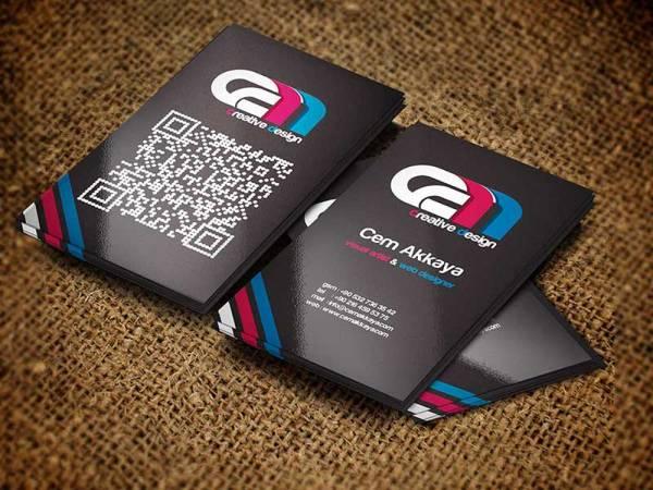 vertical business card mockup 19