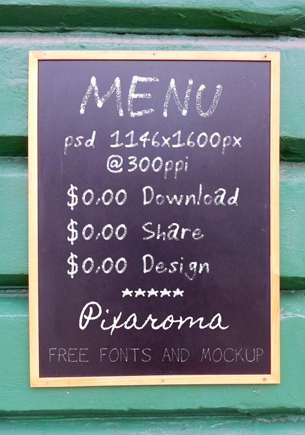 Free Chalkboard Mockup 04