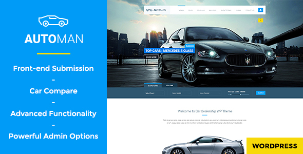 Car Dealer WordPress Theme 09