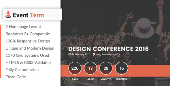 Conference Website Template 04