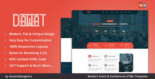 Conference Website Template 07