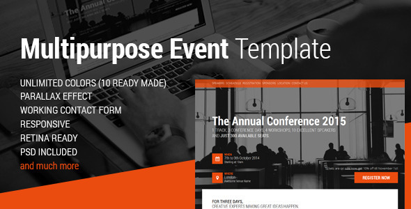 Conference Website Template 08