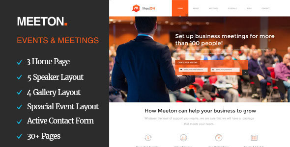 Conference Website Template 11