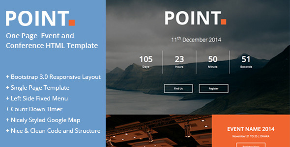 Conference Website Template 24